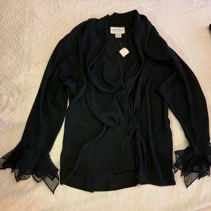 EMANUEL UNGARO BLACK SHEER TOP